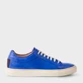 Paul Smith Men's Blue Calf Leather 'Nastro' Sneakers