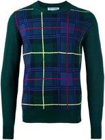 Comme Des Garçons Shirt Boys - checked jumper - men - Acrylic/Wool - M