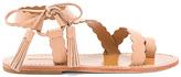 Zimmermann Scallop Tie Sandal in Tan. - size 39 (also in )
