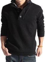Deer Gary New Men's Fashion False Two Turtleneck Sweater Men Sweater