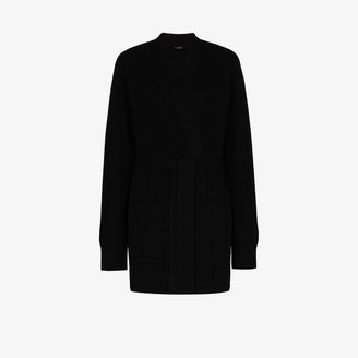 Joseph Ribbed Knit Belted Cardigan