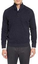 Toscano Men's Plaited Mock Neck Sweater