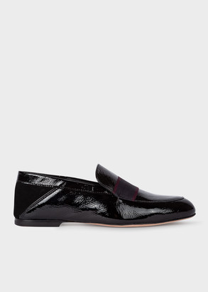 Paul Smith Women's Black Patent Leather 'Freda' Loafers