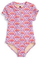 Tea Collection Toddler Girl's Sea Fan One-Piece Rashguard Swimsuit