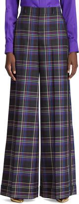 Ralph Lauren Alana Wide-Leg Tux-Striped Pants