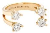 Delfina Delettrez Dots 18kt Rose Gold Phalanx Ring With Diamonds