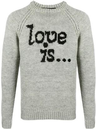 DSQUARED2 Love Is intarsia jumper
