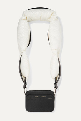 MONCLER GENIUS 2 Moncler 1952 Valextra Dado Shell Down And Leather Shoulder Bag - Black