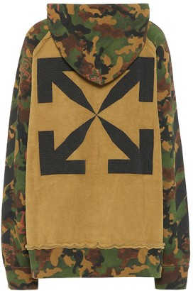 Off-White Printed camo cotton hoodie
