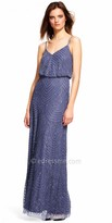 Adrianna Papell Halter Beaded Blouson Evening Dress