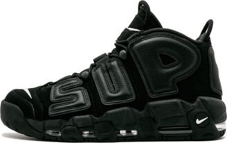 Nike More Uptempo 'Supreme - Suptempo Black' Shoes - Size 9.5