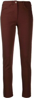 D-Exterior Side-Stripe Skinny-Fit Trousers