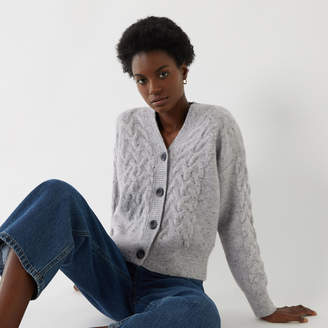 Warehouse CABLE KNIT CARDIGAN