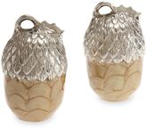 Julia Knight Luxe Lodge Acorn Salt and Pepper Shakers in Toffee