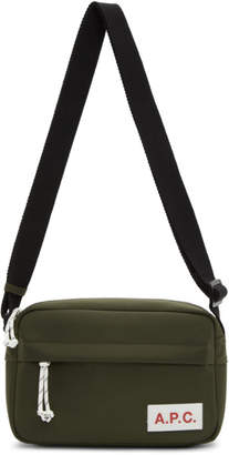 A.P.C. Khaki Protection Camera Bag
