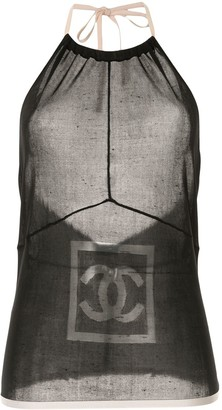 Chanel Pre Owned CC halterneck camisole