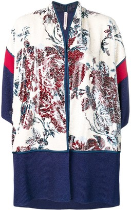 Antonio Marras Floral Sequinned Knitted Cardigan