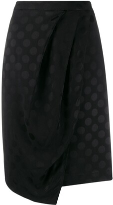 Karl Lagerfeld Paris x Carine satin dot skirt