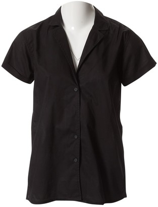 Matteau Black Cotton Tops