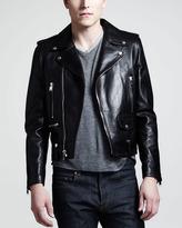 Saint Laurent Leather Motorcycle Jacket