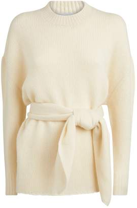 Roche Ryan Cashmere-Silk Belted Sweater
