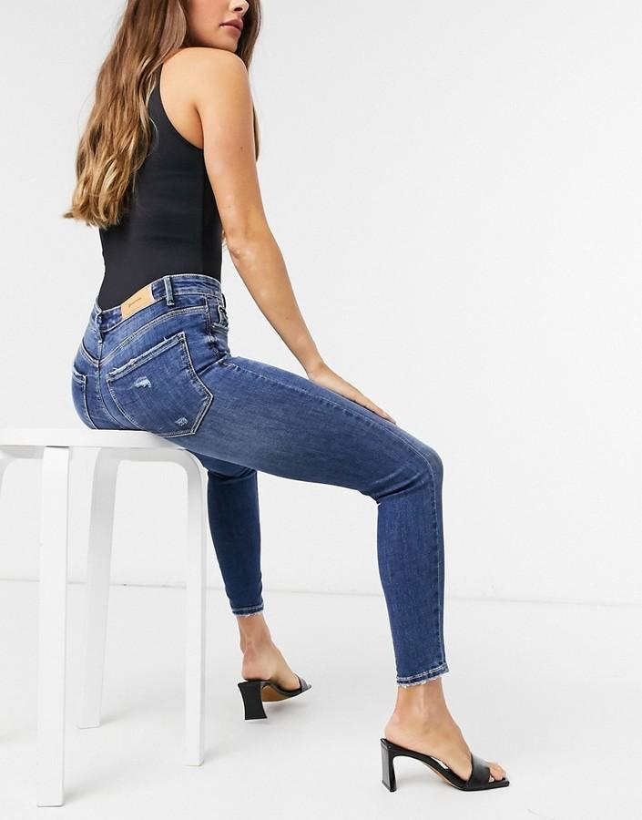 Thumbnail for your product : Stradivarius skinny jean in dark wash