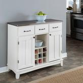 Home Styles Large Serving Buffet - White/Stainless Steel