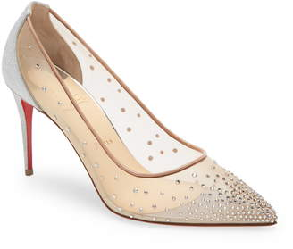Christian Louboutin Follies Crystal Mesh Pump