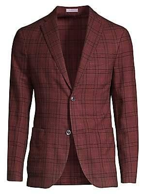 Boglioli Men's Plaid Wool & Silk Blazer