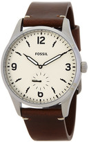 Fossil Men&s Stainless Steel Egg Strap Watch