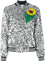 Mira Mikati sequinned bomber jacket - women - Silk/Polyester - 36