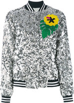 Mira Mikati sequinned bomber jacket