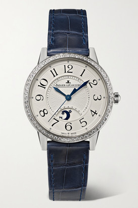 Jaeger-LeCoultre Jaeger Lecoultre Rendez-vous Moon Automatic 29mm Medium Stainless Steel, Alligator And Diamond Watch - Silver