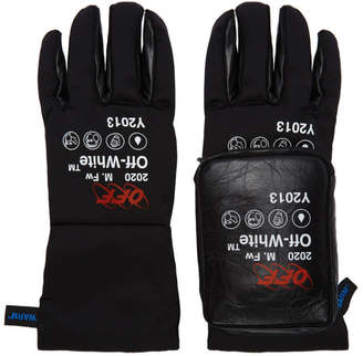 Off-White Black and White Pouch Gloves