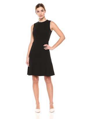 Donna Morgan Women's Sleeveless Crepe Fit and Flare Dress