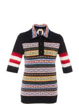 N°21 N 21 Megan Lambswool Polo Knit Top