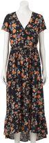 Mudd Juniors' Floral Surplice Maxi Dress