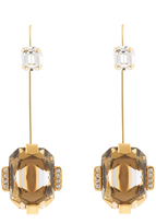 Marni Crystal-embellished hook earrings