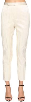 Saint Laurent Classic Pleated Satin Pants