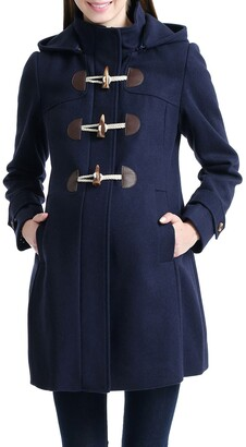 Kimi and Kai Paisley Wool Blend Maternity Duffle Coat