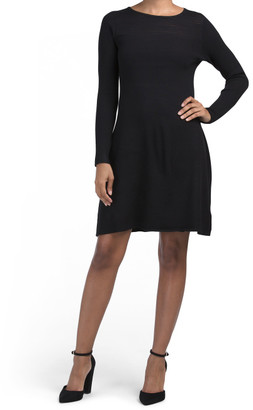Yoke Detail Fit And Flare Dress