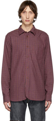 Junya Watanabe Red and White Checked Shirt