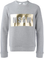 MSGM logo print sweatshirt - men - Cotton/Viscose - M