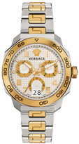 Versace Dylos Chronograph IP Two-Tone Bracelet Watch
