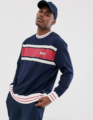 Wesc 90s Miles chest stripe sweater