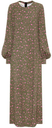 Marni Floral printed crApe maxi dress