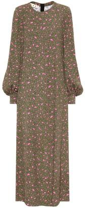 Marni Floral printed crepe maxi dress