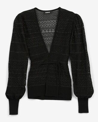 Express Belted Open Stitch Cardigan