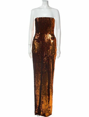 Alexandre Vauthier Strapless Long Dress w/ Tags Orange