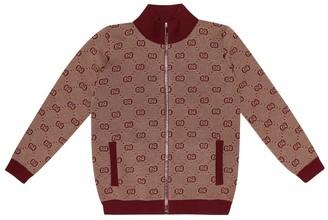Gucci Kids GG wool and cotton cardigan